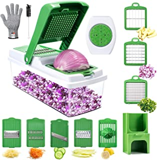 Vegetable Chopper, WOKOKO Onion Chopper Pro Mandoline Slicer Dicer Veggie Vegetable Chopper Dicer for Garlic, Cabbage, Carrot, Potato, Tomato, Fruit, Salad