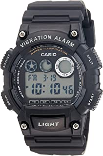 ساعة يد كاجوال راتينج انالوج بعقارب للرجال من كاسيو W-735H-1A – اسود