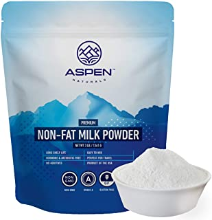 Aspen Naturals NonFat Milk Powder - Non-GMO for Adults and Children, 3 LB - Fat Free Dry Milk Powder with Protein and Calc...