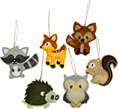 Darware My Forest Friends Christmas Ornament Set (6-Piece Set); Plush Holiday Animal Tree..