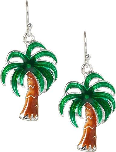 Green Palm Tree earrings