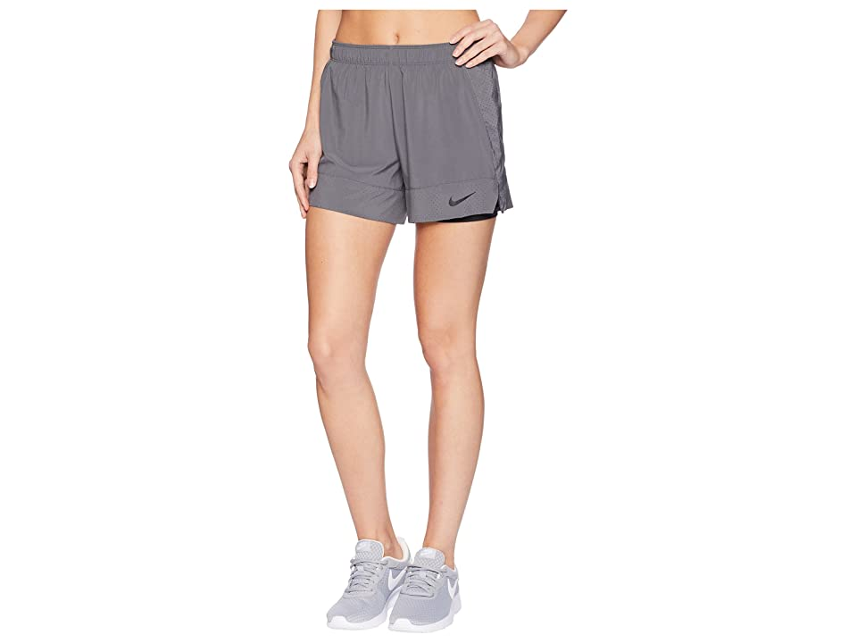 Nike Flex 2-in-1 Short (Dark Grey/Black/Black) Women