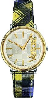 ساعة فيرزاتشي للسيدات بسوار من الجلد كاجوال - VE8100118