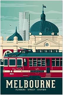 Noir Gallery Retro Melbourne Travel Print 5