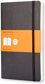 Moleskine - Classic Soft Cover Notebook - Ruled - Large - Black, (QP616)