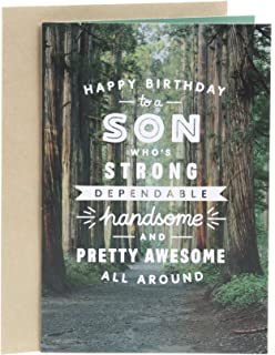 Hallmark Birthday Card for Son (Woodland Trail)