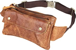 Loyofun Echtes Leder Bauchtasche Gürteltasche Bumbag Hip Bag Hüfttasche Damen Herren
