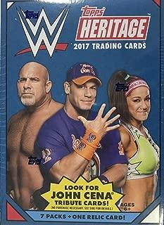 2017 Topps WWE Heritage Wrestling BLASTER box (includes ONE Memorabilia card)