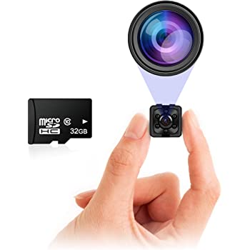 Small Hidden Mini Spy Camera - Secret Tiny Spy Cam for Home or Car with Motion Detection, Night Vision, Video, Micro Security Nanny Cameras and Hidden Cameras, Camaras Espias, No Wireless WiFi Needed