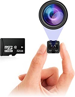 Small Hidden Mini Spy Camera - Secret Tiny Spy Cam for Home or Car with Motion Detection, Night Vision, Video, Micro Secur...