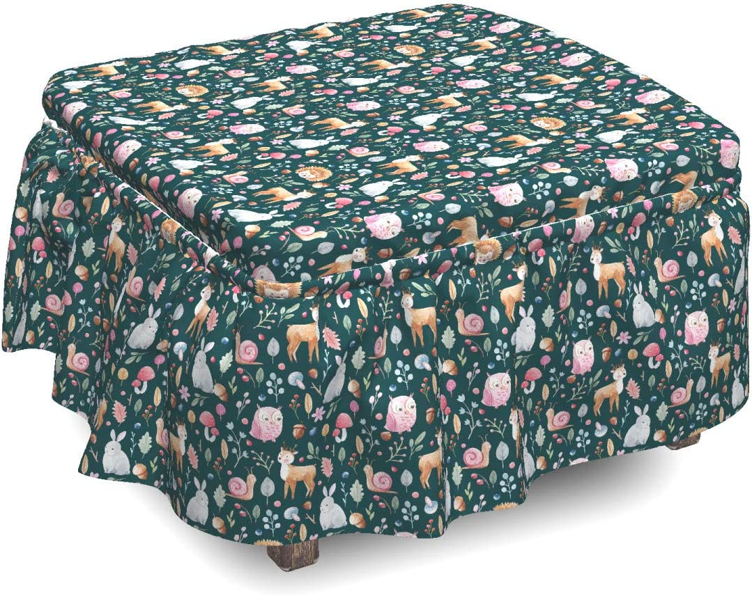 Max 60% OFF Ambesonne Acorn Ottoman Max 67% OFF Cover Woodland Pattern 2 Nature Piece