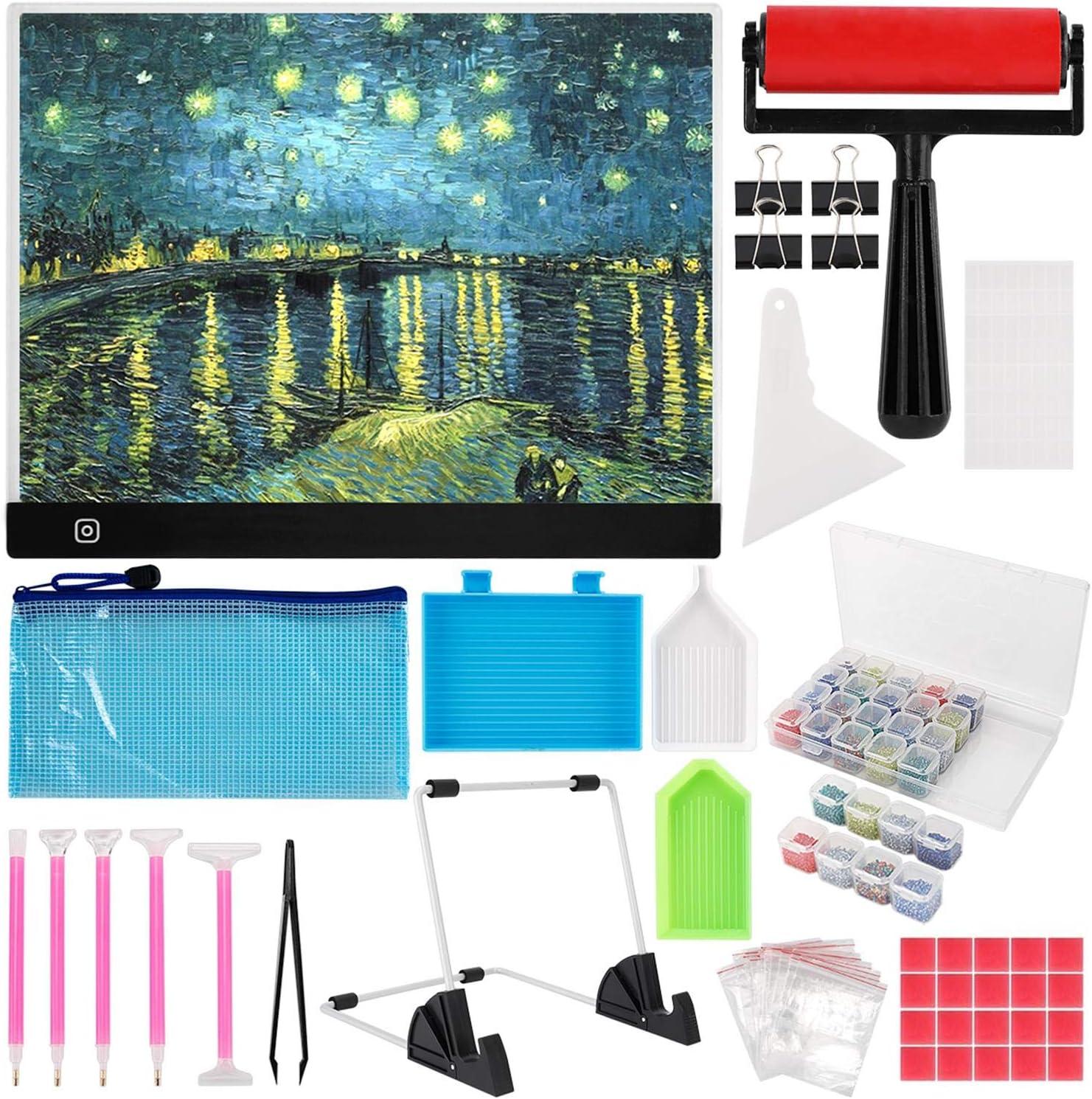 skyyue B4 Genuine Diamond Painting Led Pad DIY Virginia Beach Mall Kits Light Dimmable