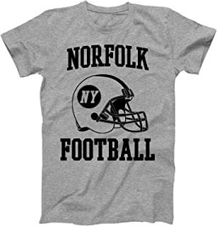 Vintage Football City Norfolk Shirt for State New York with NY on Retro Helmet Style