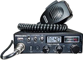 President Taylor-IV Emisora CB Puede funcionar con 12/24 voltios 40 Canales Am/FM