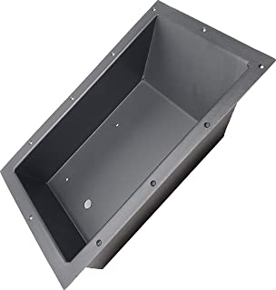 R&R Design Recessed Easy Boat Trolling Motor Pan, Powder Coated Aluminum Foot Pedal Control Tray