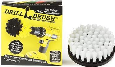 Drill Brush Power Scrubber Blanco 10 cm de fijación para cuerda depurador del taladro de potencia para el vidrio de tapicería sofás Sillas Alfombras Asientos de cuero y muebles de limpieza