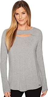 Womens Long Sleeve Knit Cut Out Tee