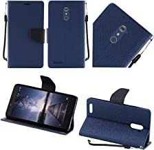 HR Wireless Cell Phone Case for ZTE ZMAX Pro - Dark Blue