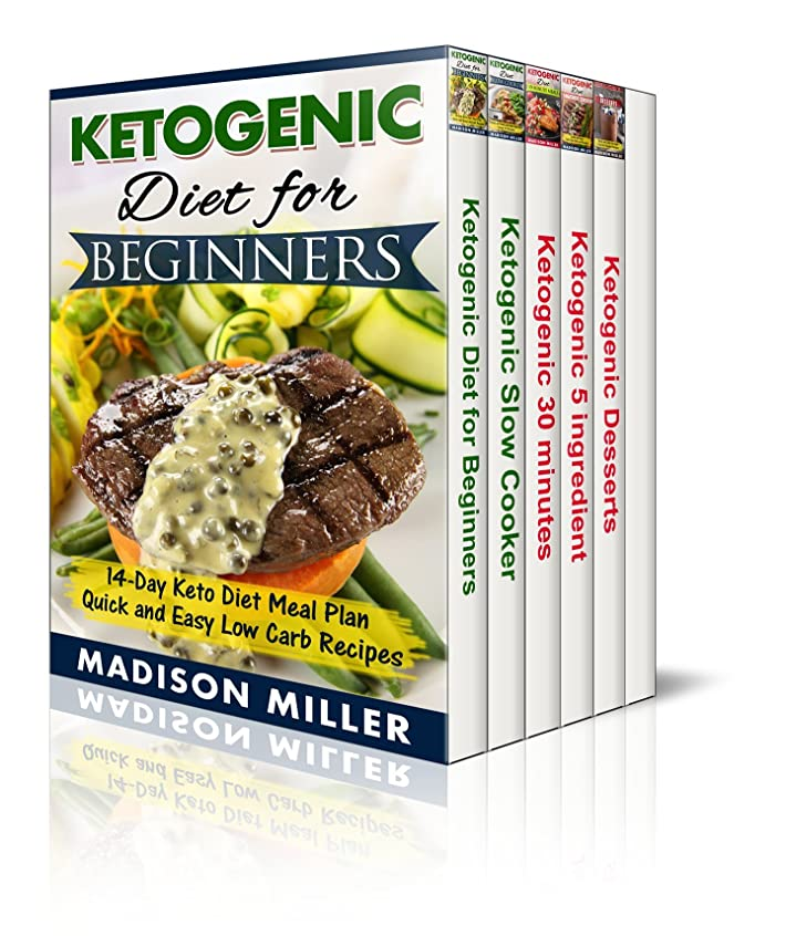 Ketogenic Diet Box Set 5 Books in 1: Vol. 1: Ketogenic Diet for Beginners; Vol. 2: Slow Cooker Recipes;  Vol. 3: 5 Ingredient Recipes; Vol. 4: 30-Minute ... Ketogenic Dessert Recipes (English Edition)