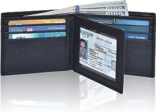Front Pocket Wallet for Men - RFID Blocking Leather...