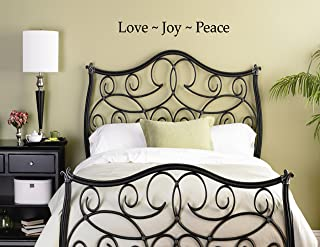 LOVE JOY PEACE Vinyl wall lettering stickers quotes and sayings home art deco...