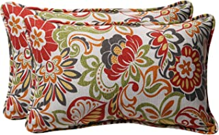 Pillow Perfect Decorative Multicolored Modern Floral Rectangle Toss Pillows a954287775