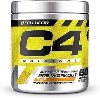 Pre-workout Powder C4 Original Orange Burst | Pre-workout Energy Drink Supplement | 150mg Cafeïne + Bèta-alanine + Creati...