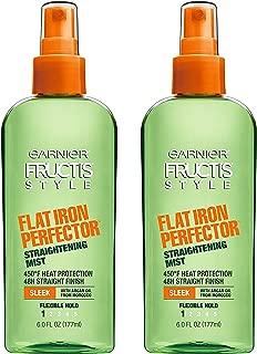 Garnier Fructis Style Sleek & Shine Flat Iron Perfector Straightening Mist 24 Hour Finish, 6 Fl Oz, Pack of 2
