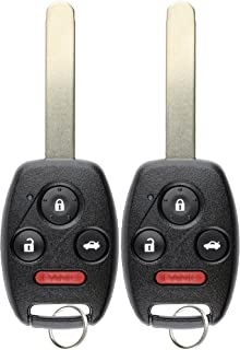 KeylessOption Keyless Entry Remote Control Uncut Car Ignition Key Fob Replacement for OUCG8D-380H-A (Pack of 2) (Renewed)