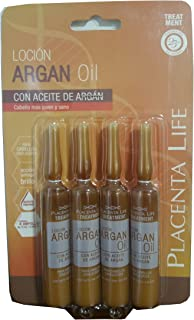 PLACENTA LIFE INTENSE ANTI-AGING HAIR TREATMENT WITH ARGAN OIL X 4 AMPOULES 13ml/