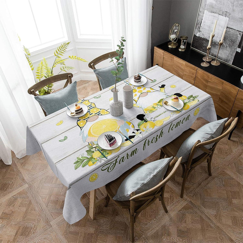 ARTSHOWING Lemon Rectangular Tablecloth Ranking Outstanding TOP9 60x162inch Tab Washable