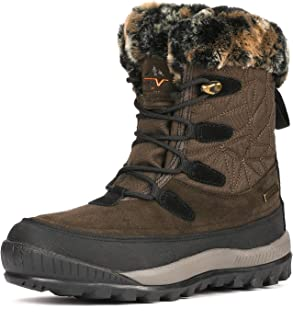 Women's A0052 Insulated Waterproof Construction Hiking Winter Snow Boots