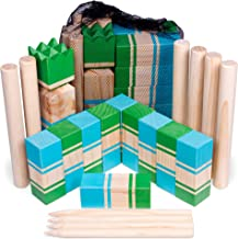 Kubb   Portable Viking Lawn Game for Adults and Kids   Unique, Traditional Family Game   Premium Wooden Tossing Game Set for Outdoor Parties, Cookouts, Yard Activities   Includes Free Mesh Carry Bag