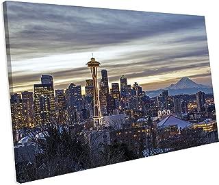 Best seattle skyline canvas art Reviews