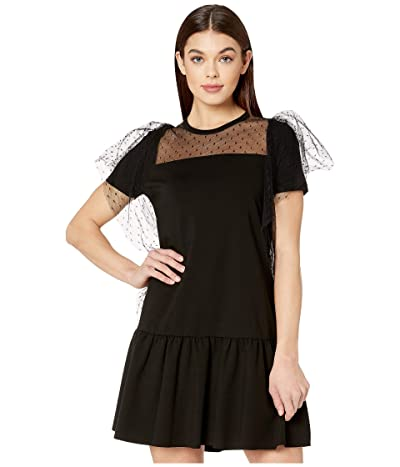 RED VALENTINO Milano Stitch Trapeze Dress (Black) Women