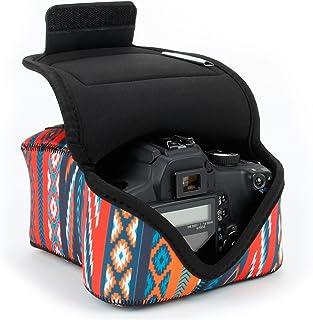 USA Gear Funda para Cámara DSLR con Protección de Neopreno Presilla para Cinturón y Almacenamiento de Accesorios - Compatible con Nikon D3400 Canon EOS Rebel SL2 Pentax K-70 y más - Azteca