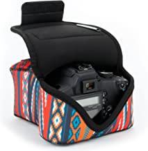 USA GEAR DSLR Camera Sleeve Case (Southwest) with Neoprene Protection, Holster Belt Loop and Accessory Storage - Compatible with Nikon D3400, Canon EOS Rebel SL2, Pentax K-70 and More