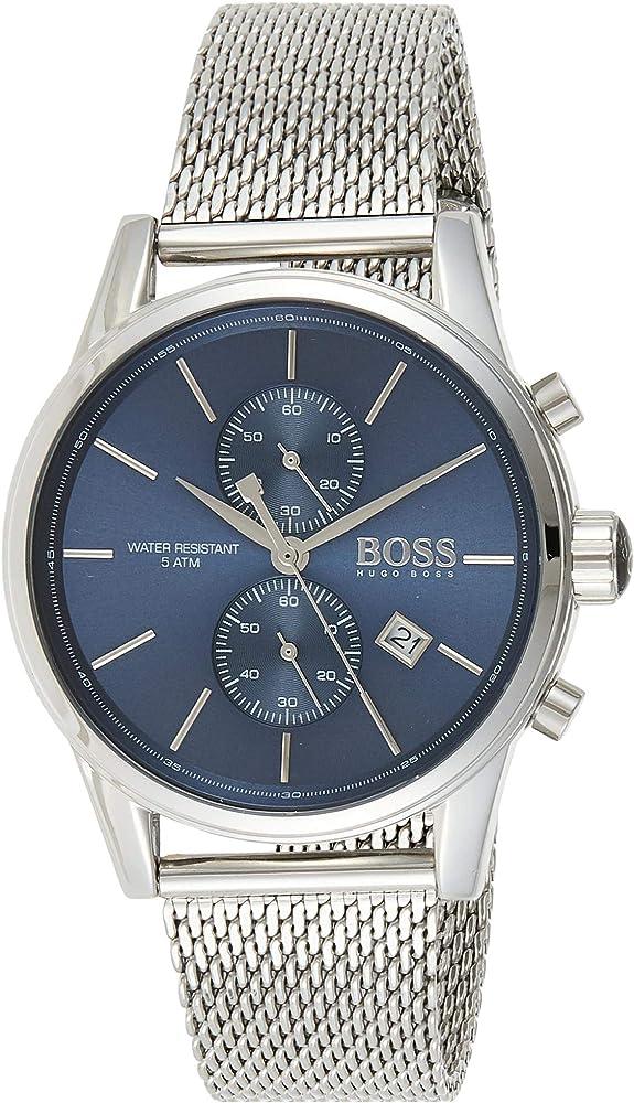 Hugo boss orologio cronografo da uomo in  acciaio inox 1513441