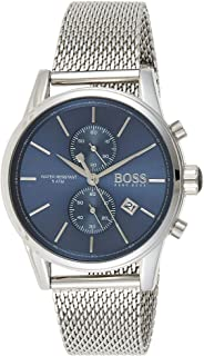 Hugo Boss Mens Quartz Watch, Analog Display and Stainless Steel Strap 1513441, Silver