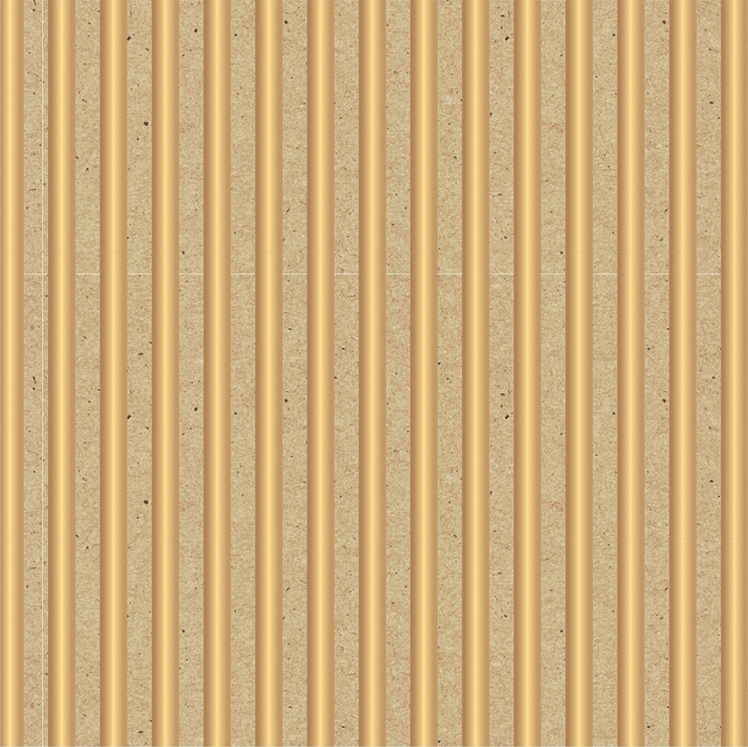 American Crafts Specialty Paper 12 Pack of 8.5 x 11 Inch Kraft Gold Stripes, Piece