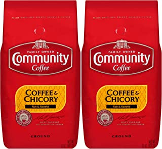 Community Coffee & Chicory, Ground, 32 Ounces (Pack of 2)