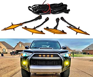 4 PCS Led Amber Grille Lights for 2014-2019 Toyota 4Runner TRD Pro Grille SR5 TRD off-road Limited TRO Pro (Model A)