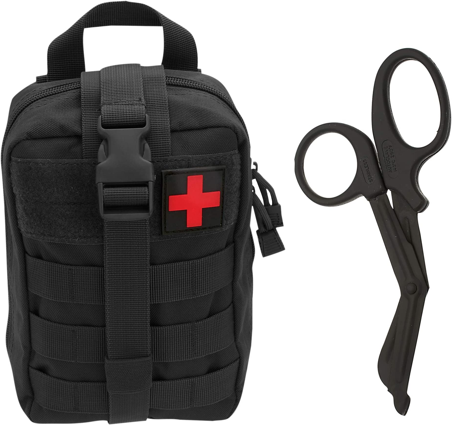 Tactical MOLLE EMT Medical First Aid IFAK Blowout Utility Pouch Black
