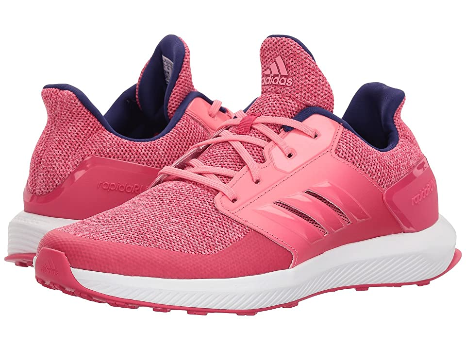 adidas Kids RapidaRun (Little Kid/Big Kid) (Vivid Berry/Chalk Pink) Girls Shoes