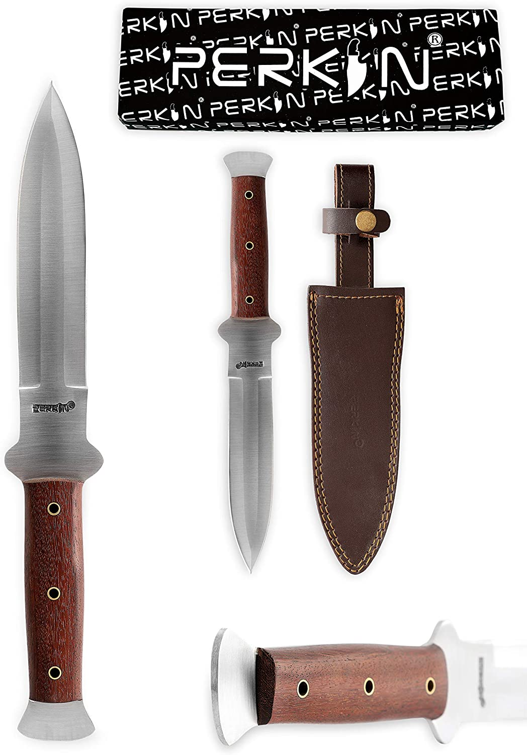 Perkin - All items free shipping Handmade Hunting Knife with Fixed unisex S Blade