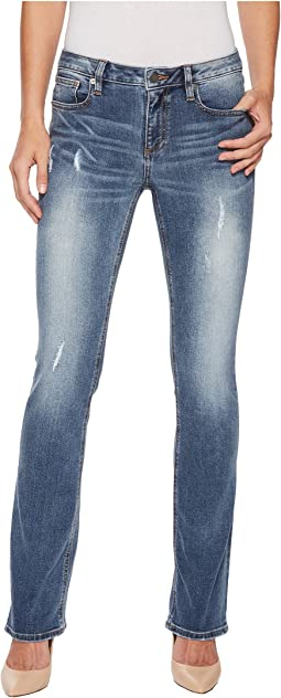 Miss Me - Slim Bootcut Jeans in Medium Blue
