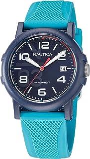 Nautica Men's Quartz Silicone Strap, Blue, 20 Casual Watch (Model: NAPEPF109)