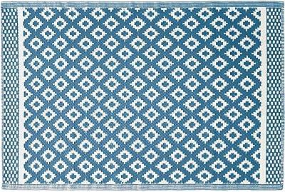 Rectangular Decorative Rug 120 x 180 cm Printed Polyester Osa Design Blue