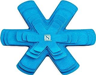 Cook N Home 02532Juego de olla y protector de sartén separador Pad Set, de 6a 40.6cm/16A 40cm, color azul