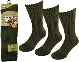 Mens Army Military Soldiers Boot Thermal Long Thick Cushion Soft Top Heat Socks